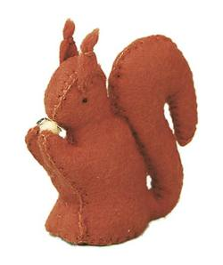 Buy Squirrel Handmade w Wool Felt 7 cm in AU Australia.