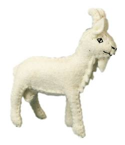 Buy Goat Handmade w Wool Felt Large 8 cm in AU Australia.