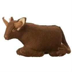 Buy Cow Sitting Handmade w Wool Felt 10cm in AU Australia.