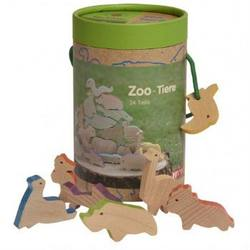 Buy Wooden Zoo and Aquarium Animal Set 24 pieces in AU Australia.