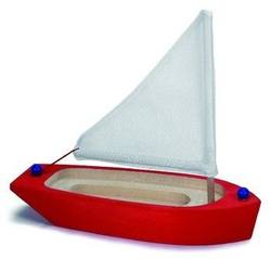 Buy Sailing Boat wooden  Red 22cm in AU Australia.