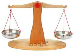 Buy Wooden Balance Scales w 5 Brass Weights 39cm in AU Australia.