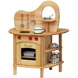 Buy Childrens Wooden Kitchen Double-sided w Stove and Sink in AU Australia.