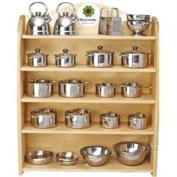 Buy Kitchen Display Shelf complete w Stainless Steel Cookware 50 pieces SPECIAL ORDER in AU Australia.