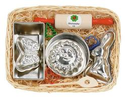 Buy Gluckskafer Baking set w Rabbit mould in cane basket 34x21cm SPECIAL ORDER in AU Australia.