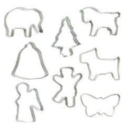 Buy Mini Cookie Cutters - Various Shapes (10pk price ea) in AU Australia.