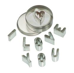 Buy Mini Cookie Cutter Set - 'I love you' in Metal Box pk of 6 price per set SPECIAL ORDER in AU Australia.
