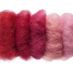 Buy Plant Dyed Wool Fleece Mixed Red Tones 50g - DUE FEB in AU Australia.