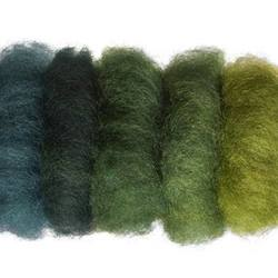 Buy Plant Dyed Wool Fleece Mixed Green Tones 50g - DUE FEB in AU Australia.