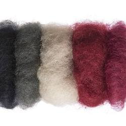 Buy Plant Dyed Wool Fleece Mixed Black/Red Tones 50g - DUE FEB in AU Australia.