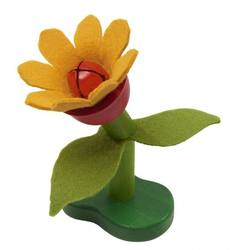 Buy Wood and Felt Flower Rattle in AU Australia.