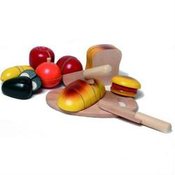 Buy Walter Jumbo Breakfast Cutting Game- 8 foods w board and 2 wooden knives in AU Australia.