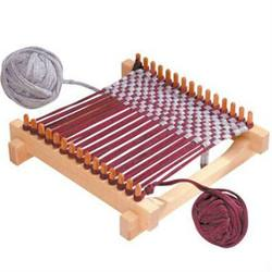 Buy Pot Holder Wooden Weaving Frame Loom 29x29cm w Recycled Cotton T-shirt Yarn in AU Australia.
