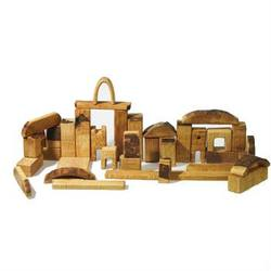 Buy AMS Natural Wooden Block Set - 37 Large Pieces SPECIAL ORDER in AU Australia.