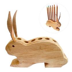 Buy Drei Blatter Wooden Pencil Holder Bunny NEW in AU Australia.