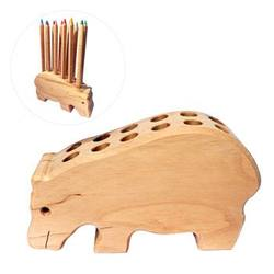 Buy Drei Blatter Wooden Pencil Holder Hippo SPECIAL ORDER in AU Australia.