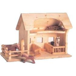 Buy Drei Blatter Wooden Doll House Farm Stable in AU Australia.