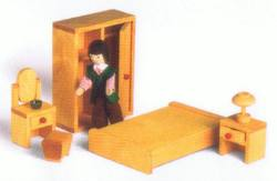 Buy Drei Blatter Wooden Doll House Furniture - Mum and Dad Bedroom set 6pcs in AU Australia.