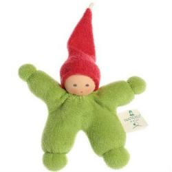 Buy Nanchen Organic Gnome Doll Green w Red Cap 11cm in AU Australia.