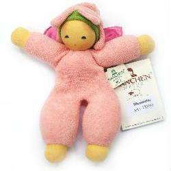 Buy Nanchen Organic Flower Fairy Doll w Silk Wings and Rattle pink 18cm in AU Australia.