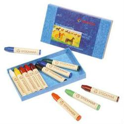 Buy Stockmar Wax Crayons w Pure Beeswax 12 Sticks in Cardboard Box in AU Australia.