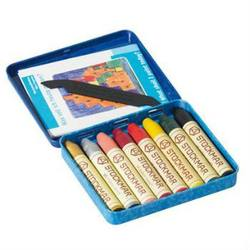 Buy Stockmar Wax Crayons w Pure Beeswax 8 Sticks in Tin Supplementary Set w Gold + Silver in AU Australia.