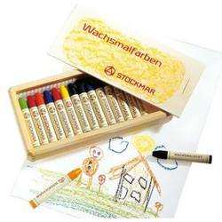 Buy Stockmar Wax Crayons w Pure Beeswax 16 Sticks in Wooden Box in AU Australia.