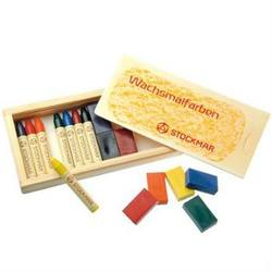 Buy Stockmar Wax Crayons w Pure Beeswax 8 blocks + 8 sticks in Wooden Box in AU Australia.