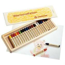 Buy Stockmar Wax Crayons w Pure Beeswax 24 Sticks In Wooden Box in AU Australia.