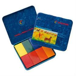 Buy Stockmar Wax Crayons 8 Blocks in Tin Waldorf Mix in AU Australia.