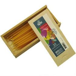 Buy Dipam Beeswax Birthday Cake Candles 0.6x10cm T20 6  x Wooden Boxes of 25 in AU Australia.