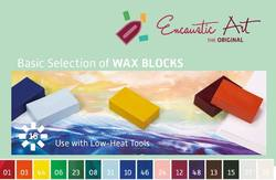 Buy Encaustic Hot Wax Art Blocks Assortment of 16 Blocks - Basic Selection in AU Australia.