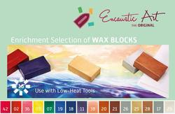 Buy Encaustic Hot Wax Art Blocks Assortment of 16 Blocks - Enrichment Selection in AU Australia.