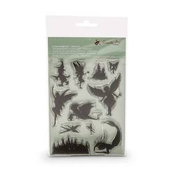 Buy Encaustic Hot Wax Art Clear Stamp Set Fantasy in AU Australia.