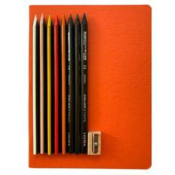 Buy Journal Book + 8 Lyra Triangle Colour Stripe Pencils + Pencil Sharpener in AU Australia.